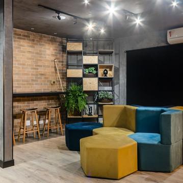 Sala com sofás - design de interiores.jp