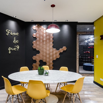sala de jantar e almoço em startup, arqu