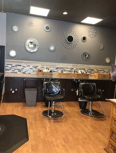 Shampoo area at Creative Image Salon in Tulsa