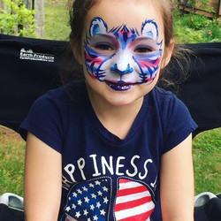 Patriotic Tiger Face Paint