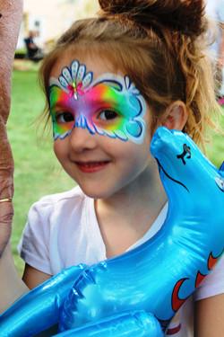 Rainbow Mask Face Painting