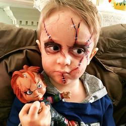 Chucky Doll Face Paint