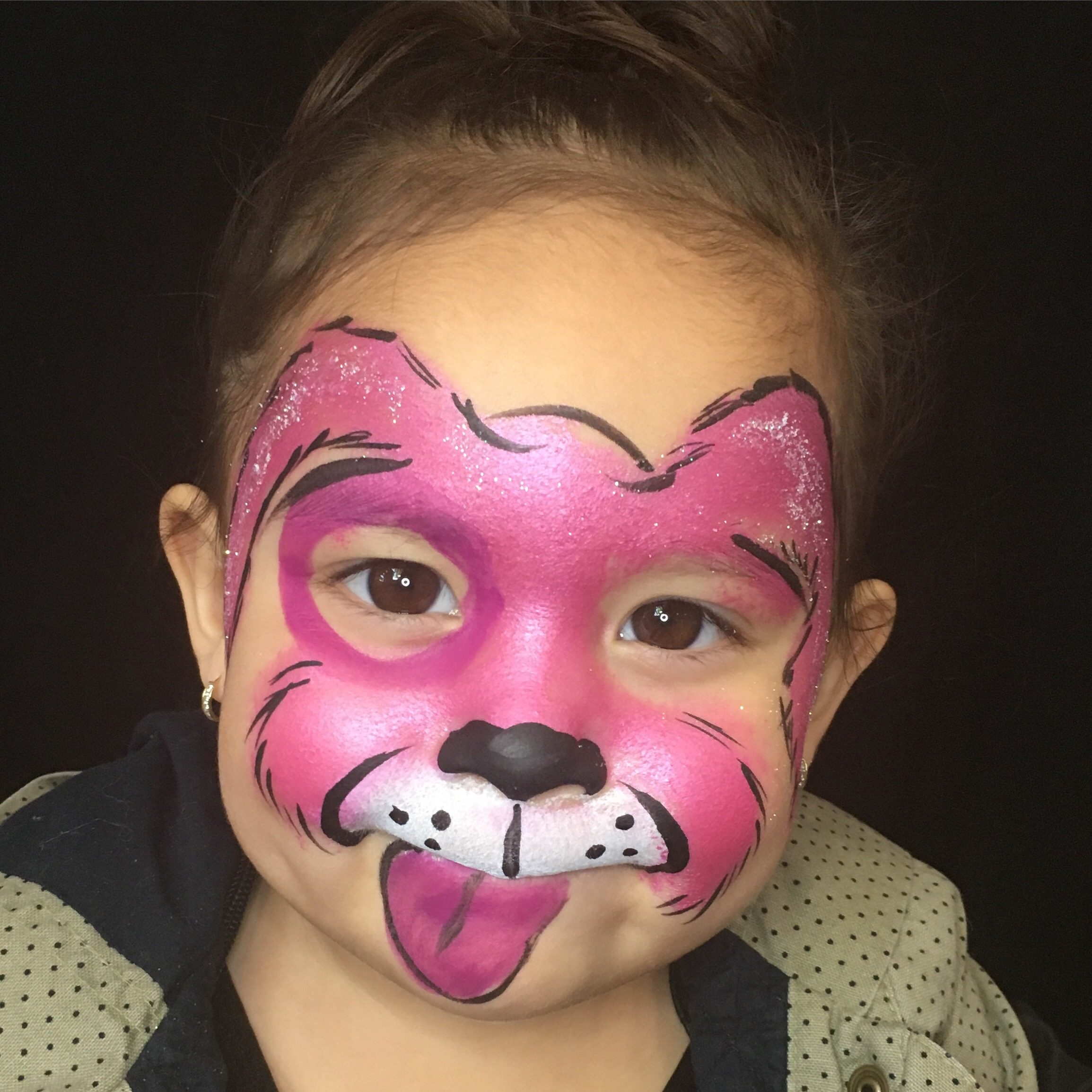 Pink Puppy Face Paint