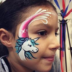 Rainbow Unicorn Face Art
