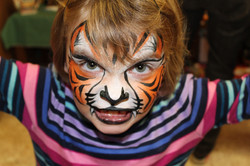 Angry Tiger Face Art