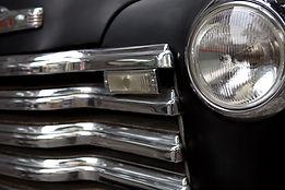 Parte dianteira do carro do vintage