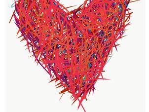 Red Slash Heart