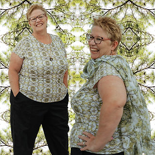 Jean in Spring Pine Tshirt and Scarf.jpg
