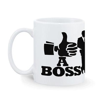 A Boss Printed Ceramic Coffee Mug 325 ml