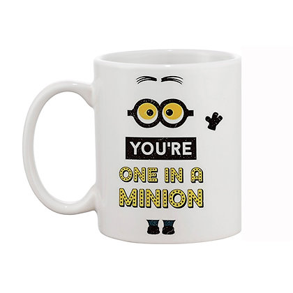 Minion Printed Ceramic Coffee Mug 325 ml