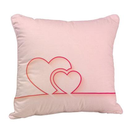 Couple love Heart Shape Satin Cushion Pillow with Filler
