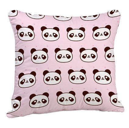 Panda Pattern Satin Cushion Pillow with Filler
