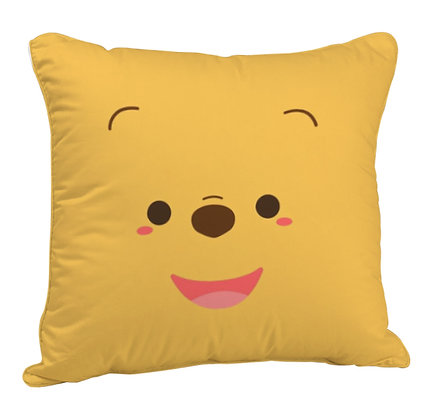 Cute Bear Printed Poly Satin Cushion Pillow with Filler
