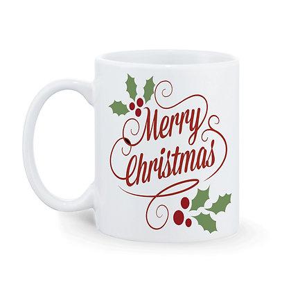 Merry Christmas Printed Ceramic Coffee Mug 325 ml