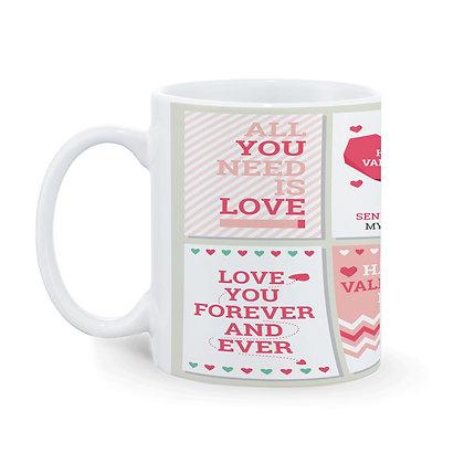 Love You Forever and Ever Printed Ceramic Coffee Mug 325 ml
