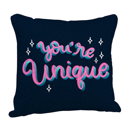 You're Unique Satin Cushion Pillow with Filler