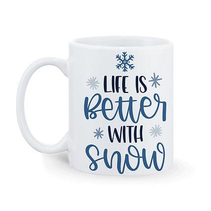 Life is better with snow Printed Ceramic Coffee Mug 325 ml