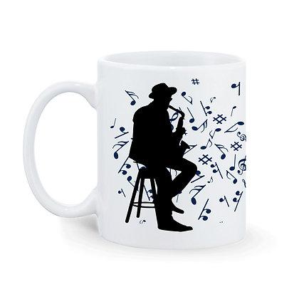 Music is Soul of Universe Printed Ceramic Coffee Mug 325 ml