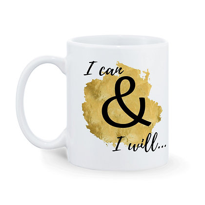 I can & I will Printed Ceramic Coffee Mug 325 ml