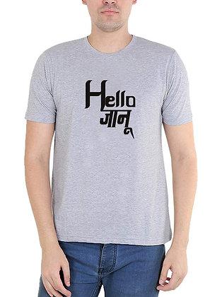 Hello Janu Printed Regular Fit Round Men's T-shirt