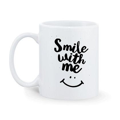 Smile with me Printed Ceramic Coffee Mug 325 ml