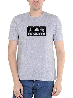 Engineer Printed Regular Fit Round Men's T-shirt