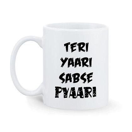 Teri Yaari Sabse Pyaari Printed Ceramic Coffee Mug 325 ml