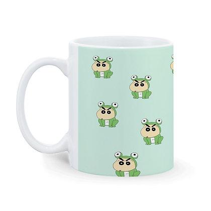 Cartoon Sinchan Pattern Ceramic Coffee Mug 325 ml
