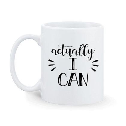 Actually I can Printed Ceramic Coffee Mug 325 ml