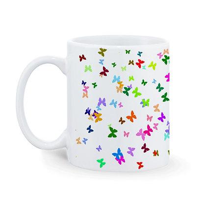 Butterflies Printed Ceramic Coffee Mug 325 ml