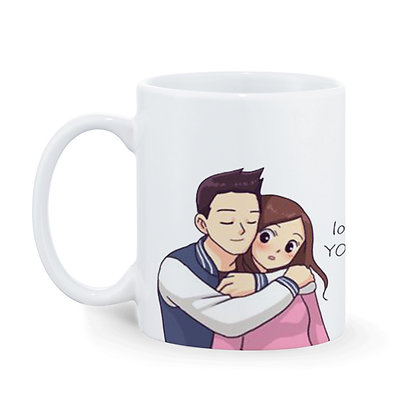 Love You Printed Ceramic Coffee Mug 325 ml
