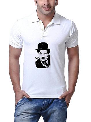 Charlie Chaplin Printed Regular Fit Polo Men's T-shirt