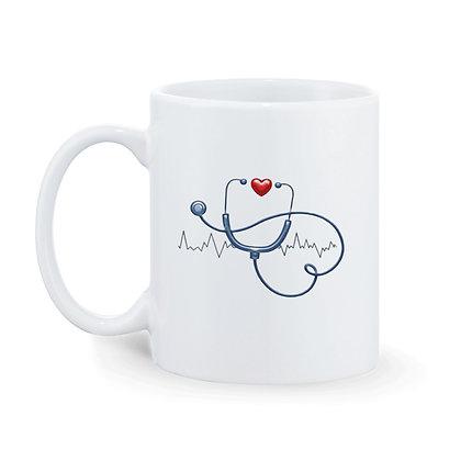 Doctor Time Printed Ceramic Coffee Mug 325 ml
