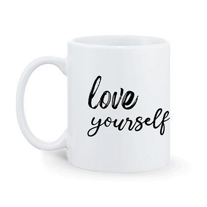 Love Yourself Printed Ceramic Coffee Mug 325 ml