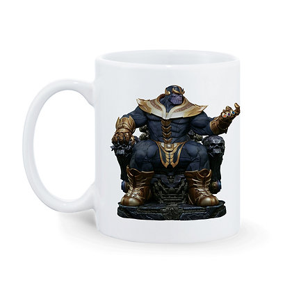 Thenos Printed Ceramic Coffee Mug 325 ml