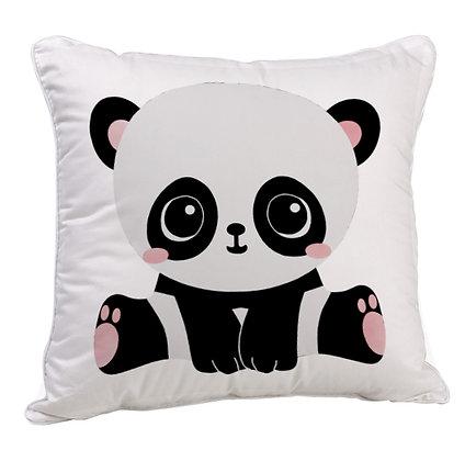 Cute Panda Satin Cushion Pillow with Filler