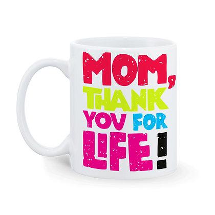 I love Mom Printed Ceramic Coffee Mug 325ml