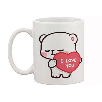 I LOVE YOU Cute Panda Ceramic Coffee Mug 325 ml