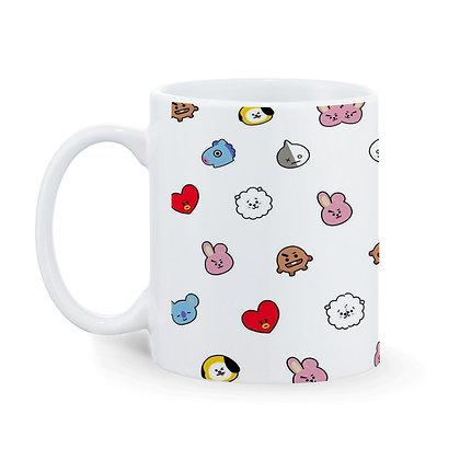 Cartoon Love Theme Pattern Ceramic Coffee Mug 325 ml