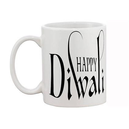 Happy Diwali Printed Ceramic Coffee Mug 325 ml