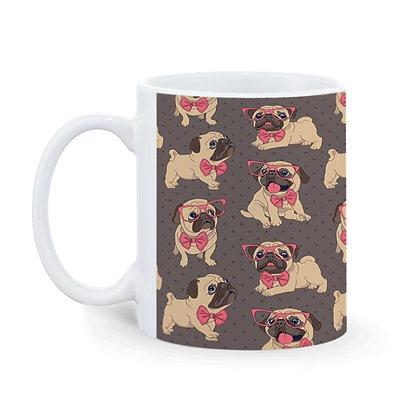 Mr. Dog Pattern Ceramic Coffee Mug 325 ml