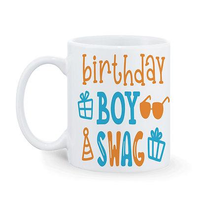 Birthday Boy Swag Printed Ceramic Coffee Mug 325 ml