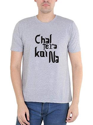 Chal tera koi na Printed Regular Fit Round Men's T-shirt
