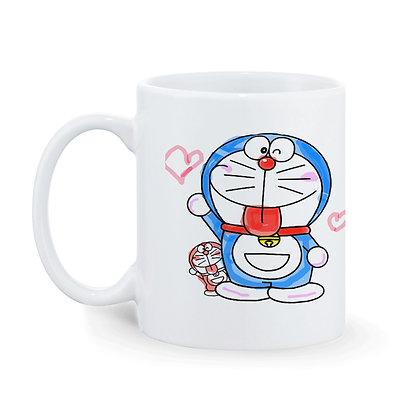 Doremon Printed Ceramic Coffee Mug 325 ml