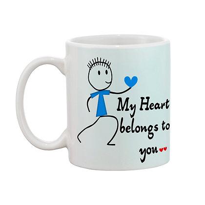 My Heart belongs to you Printed Ceramic Coffee Mug 325 ml