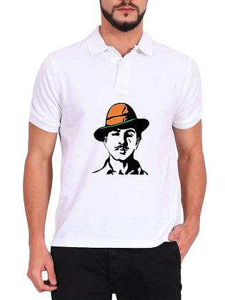Bhagat Singh Printed Regular Fit Polo Men's T-shirt