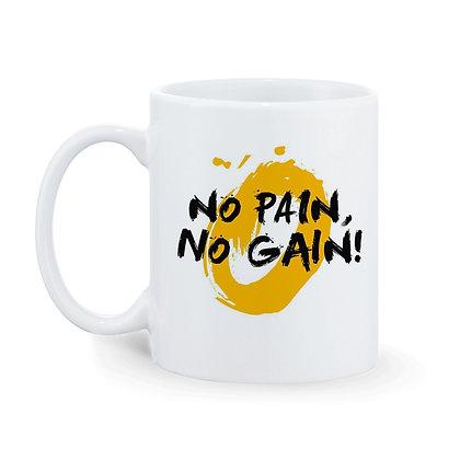No Pain No Gain Printed Ceramic Coffee Mug 325 ml