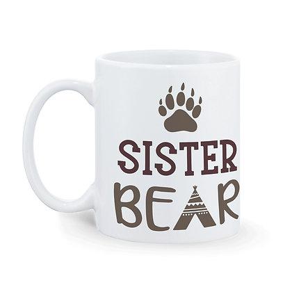 Sister Brother Bear Printed Ceramic Coffee Mug 325 ml