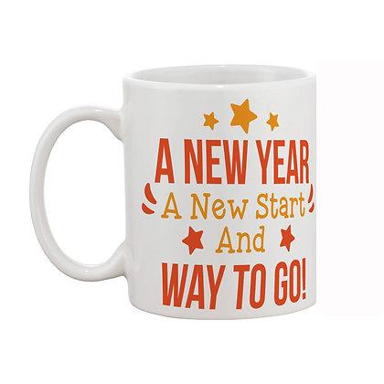 New Year Ceramic Coffee Mug 325 ml