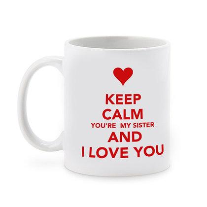I Love you Sister Ceramic Coffee Mug 325 ml